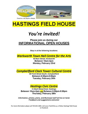 Hastings Field House flyer